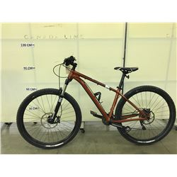 ORANGE TREK STACHE SEVEN 20 SPEED FRONT SUSPENSION MOUNTAIN BIKE WITH FRONT AND REAR HYDRAULIC DISC