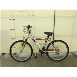 WHITE JEEP TJ LIMITED 18 SPEED FRONT SUSPENSION KIDS MOUNTAIN BIKE