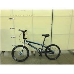 BLACK AND BLUE HARO RACELITE BMX BIKE