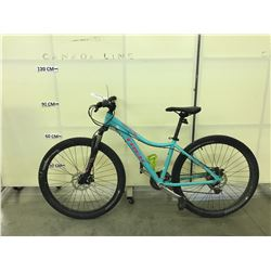 BLUE TREK SKYE 21 SPEED FRONT SUSPENSION MOUNTAIN BIKE WITH FRONT AND REAR DISC BRAKES