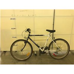 BLUE AND WHITE NORTH COUNTRY 12 SPEED MOUNTAIN BIKE
