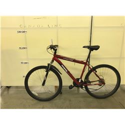 RED MONGOOSE FRONTIER 21 SPEED FRONT SUSPENSION MOUNTAIN BIKE