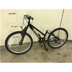 PURPLE NORCO FRONT SUSPENSION MOUNTAIN BIKE, MISSING SEAT