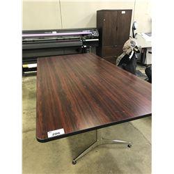 MAHOGANY 8' X 4' BOARDROOM TABLE