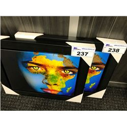 AFRICAN CONTINENT FACE PAINT FRAMED PRINT