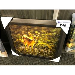 FAWN IN A MEADOW FRAMED PRINT