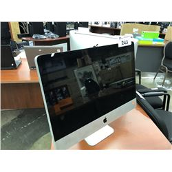 APPLE IMAC 21.5'' COMPUTER, MODEL A1311, SERIAL NUMBER W89453Z15PK, WITH APPLE KEYBOARD, AND APPLE