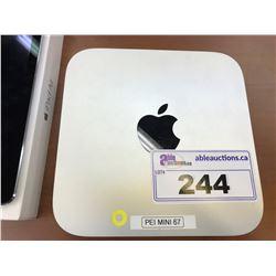 APPLE MAC MINI, MODEL A1347, 8 GB RAM, SERIAL NUMBER C07N8166DY3H