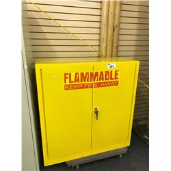 YELLOW FLAMMABLE MATERIALS STORAGE CABINET