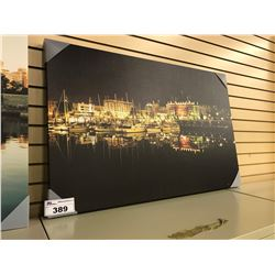 VICTORIA HARBOUR AT NIGHT CANVAS PRINT, 42'' WIDE
