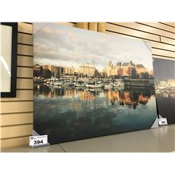 VICTORIA HARBOUR IN DAY CANVAS PRINT, 40'' WIDE