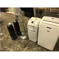 LOT OF 2 A/C UNITS, FANS AND MORE, CONDITION UNKNOWN