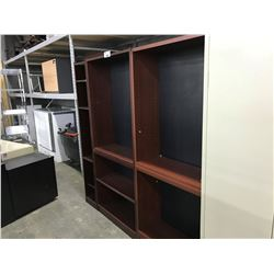 LOT OF 2 6' BOOK CASES AND 1 SMALL BOOK CASE