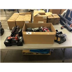 HILTI IMPACT DRILL, ASSORTED NAIL GUNS, AND HAND TOOLS