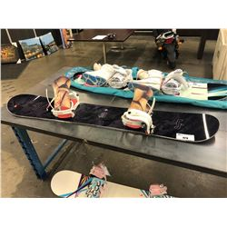 LIB TECHNOLOGIES 156 CM SNOWBOARD WITH BINDINGS