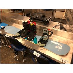 BURTON 156 CM SNOWBOARD WITH BINDINGS AND BOOTS