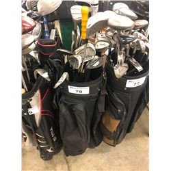 GOLF BAG WITH ASSORTED CLUBS
