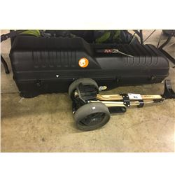HARD SHELL GOLF CLUB TRAVEL CASE AND GOLF BAG CART