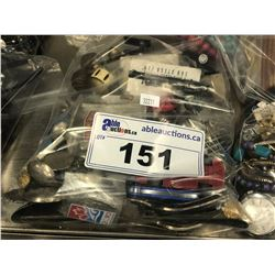 BAG OF ASSORTED COSTUME JEWELLERY AND COLLECTIBLES