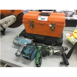 LOT OF ASSORTED TOOLS AND TOOL BOXES