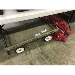 WOODEN WAGON AND FOLDING TENT