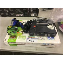 NINTENDO 64, ALL IN ONE GAME CONTROLLER, WII FIT PLUS AND MORE