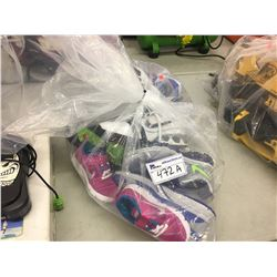 BAG OF ASSORTED KIDS SHOES