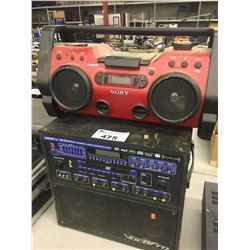 VOCOPRO GIG MAN PLUS JUKE BOX AND SONY JOB SITE RADIO