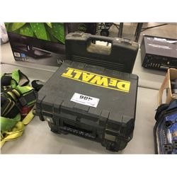 2 DRILLS AND SPARE BATTERY WITH TOOL BOXES