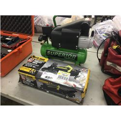 1.5 TON TROLLEY JACK, AND ELECTRIC AIR COMPRESSOR