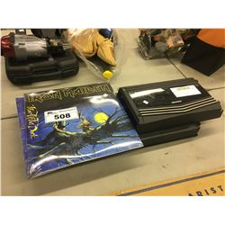 2 IRON MAIDEN RECORDS, KENWOOD AND ONYX CAR AUDIO AMPLIFIERS
