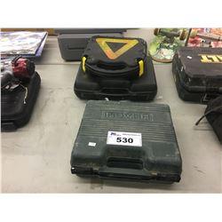 NAIL GUN, 12V AIR COMPRESSOR, AND ELECTRIC DRILL
