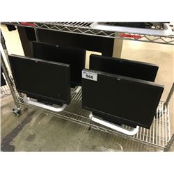 4 HP 24'' MONITORS