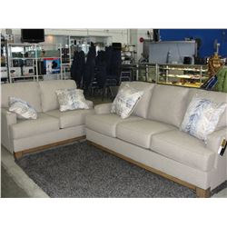 SOFA AND LOVE SEAT, BEIGE