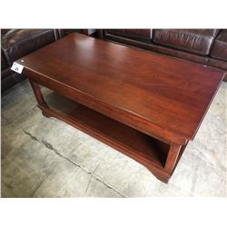CHERRY 2 DRAWER COFFEE TABLE AND END TABLE