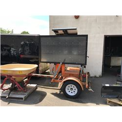 2008 VER-MAC CONSTRUCTION SIGN ON TRAILER ORANGE, VIN # 2S9US211X8S132165