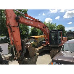 2005 HITACHI ZX 200LC EXCAVATOR WITH DIG AND CLEANUP BUCKET,QUICK CHANGE HYDRAULIC THUMB 15,090 HOUR