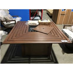 OUTDOOR PATIO PROPANE FIRE TABLE - BROWN