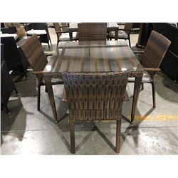 VADON 5 PCS. OUTDOOR PATIO DINING SET - TABLE WITH 4 CHAIRS