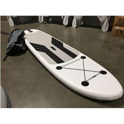 10' INFLATABLE STAND UP PADDLE BOARD COMPLETE WITH CARRYING BAG, AIR PUMP, PADDLE, REPAIR KIT & 3
