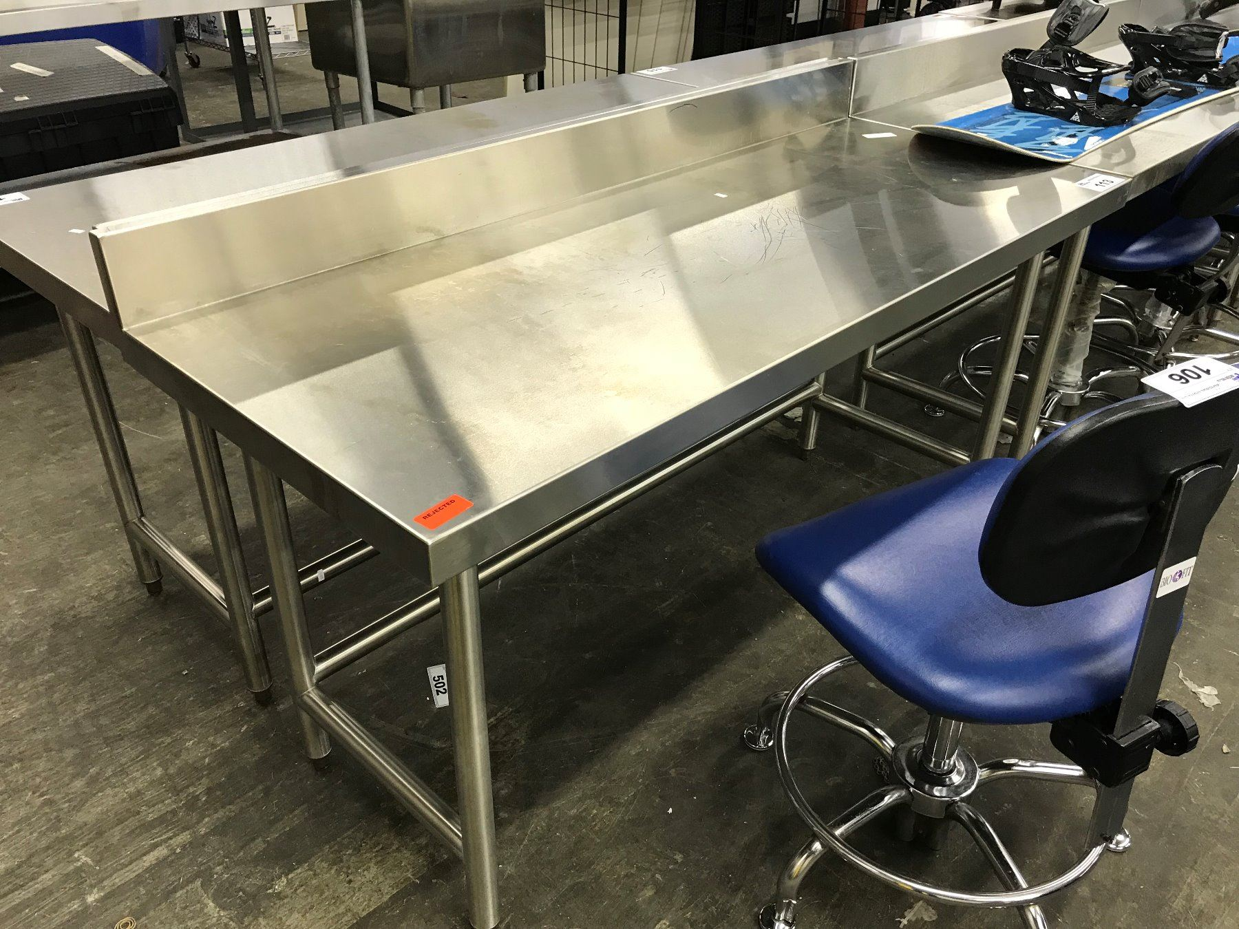 5 X 2 Stainless Steel Lab Bench