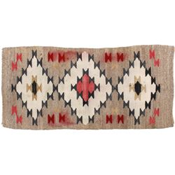 Navajo Genado Pattern Wool Rug Circa Early 1900's-