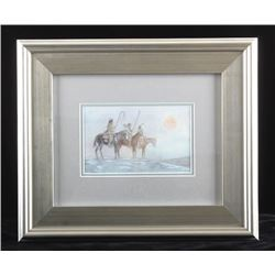 Original Jay Contway Framed Watercolor Painting