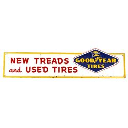 Goodyear Tires Embossed Steel Sign c. 1957