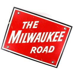 The Milwaukee Road Reflective Steel Car Sign