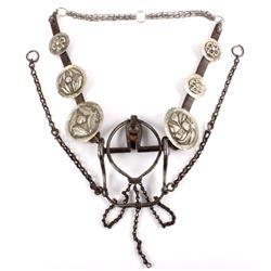 Vaquero Mexican Silver Concho Headstall 1800-