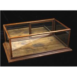 Early Oak Mercantile Display Case w/ Mirrored Back