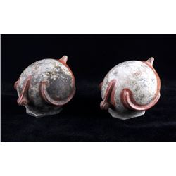Mississippian Culture Figural Pottery Seed Pots