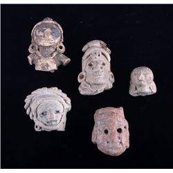 Mayan Pottery Figural Effigy Collection