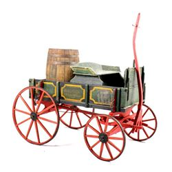 """Late 19th Century Wooden """"Badger"""" Goat Wagon"""